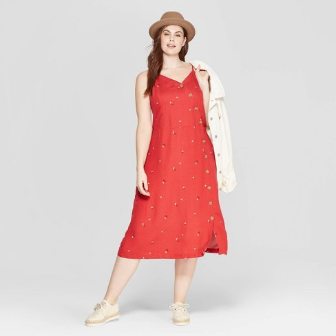 3cb5685520fe4f Women s Plus Size Floral Print Sleeveless V-Neck Dress - Universal Thread™  Red 4X   Target