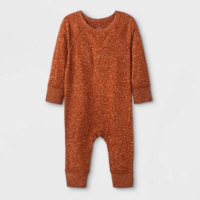 Baby Boys' Cozy Romper - Cat & Jack™ Orange Newborn