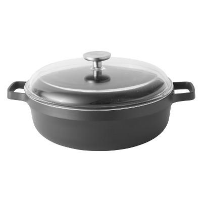 "BergHOFF GEM 11""  Non-Stick Covered Two-Handle Saute Pan 4.9 Qt, Black"