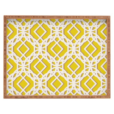 Decorative Aimee St Hill Diamonds Wooden Tray - Wheat - Deny Designs®
