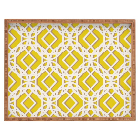 Decorative Aimee St Hill Diamonds Wooden Tray - Wheat - Deny Designs® - image 1 of 3