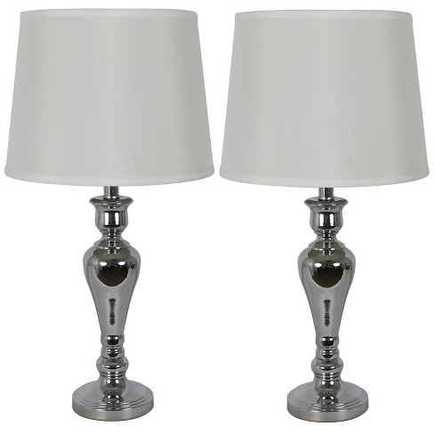 Marie Table Lamp Set Silver - Decor Therapy - image 1 of 4