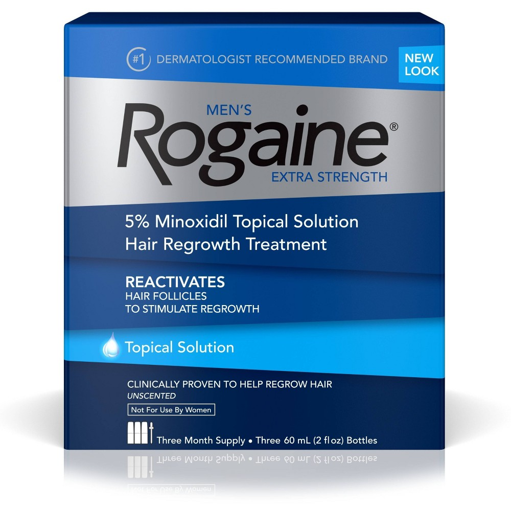 Image of Men's Rogaine Extra Strength 5% Minoxidil Solution - 3 Month Supply
