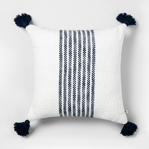 "18"" x 18"" Center Stripes Throw Pillow - Hearth & Hand™ with Magnolia - image 1 of 4"