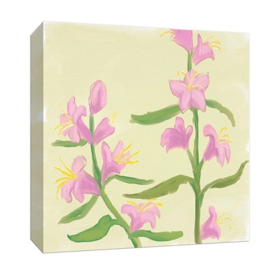 Purple Flowers Gallery Wrapped Canvas - PTM Images