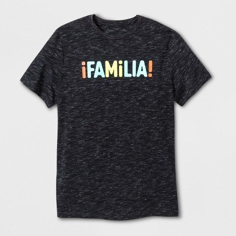 "Men's Short Sleeve ""Familia"" T-Shirt - Black - image 1 of 2"