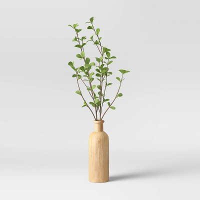 "22"" x 12"" Artificial Sparse Branches in Wood Vase - Threshold™"