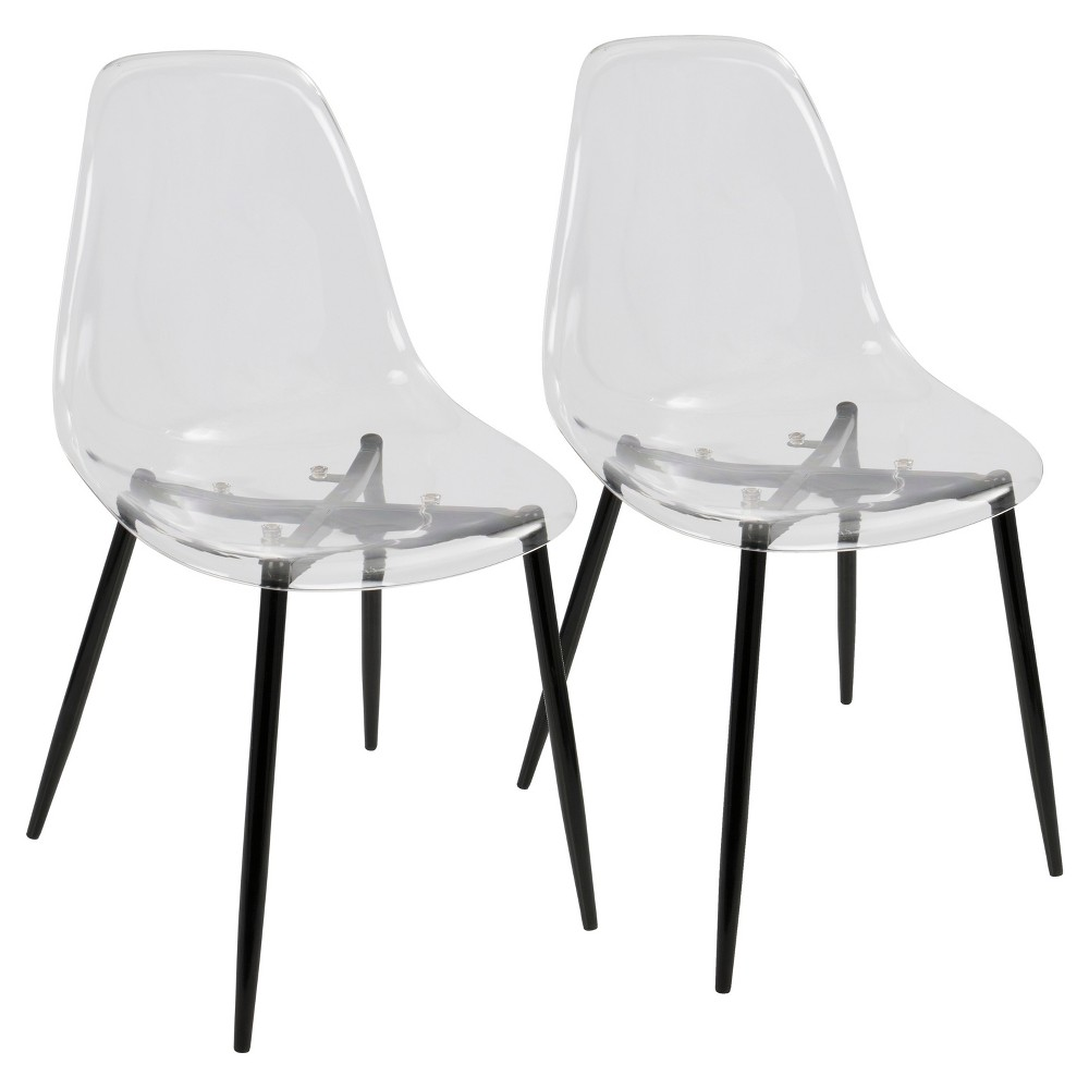 Clara Modern Dining Chair - Black (Set of 2) Lumisource
