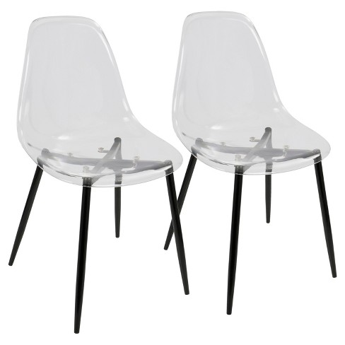 Set of 2 Clara Modern Dining Chair - LumiSource - image 1 of 4