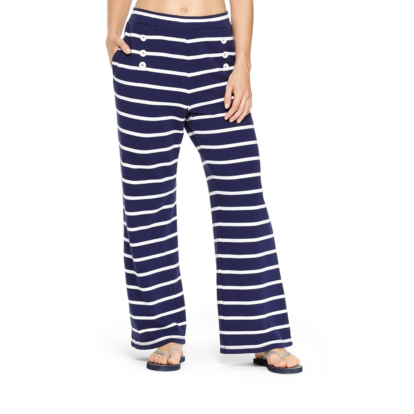 Women's Striped Pants - Navy/White - vineyard vines® for Target - image 1 of 5