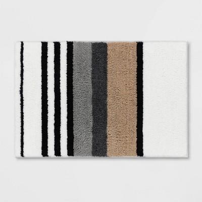"20""x30"" Century Striped Tufted Bath Rug Beige - Room Essentials™"