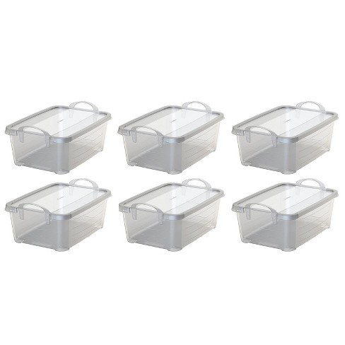 Life Story Clear Closet Organization Storage Box Container 14 Quart 6 Pack Target