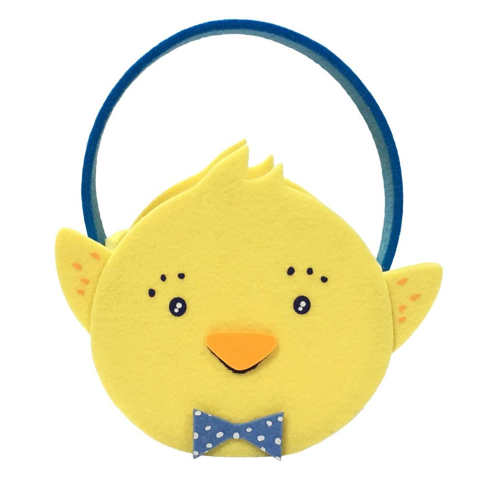 7 Easter Felt Chick Basket Yellow - Spritz, Pastel Yellow