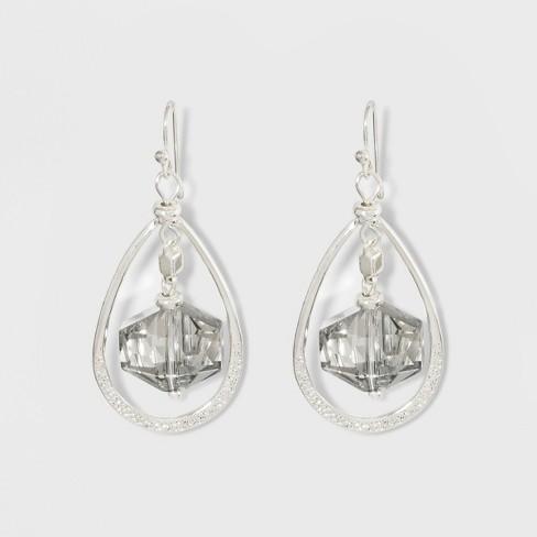Glitzy Earrings A New Day Clear Silver
