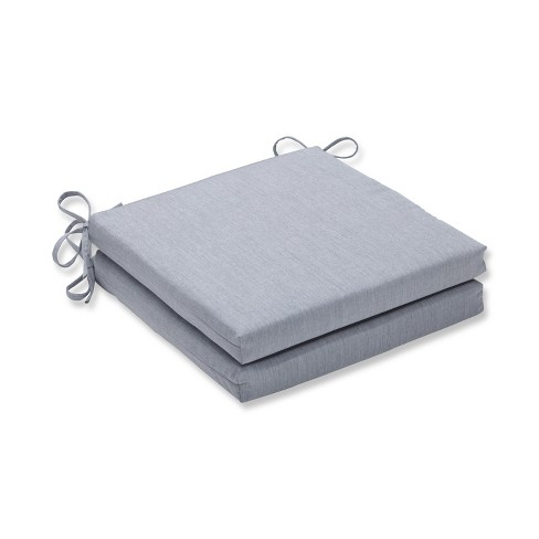 Canvas 2pc Indoor/Outdoor Squared Corners Seat Cushion - Granite - Pillow Perfect - image 1 of 1
