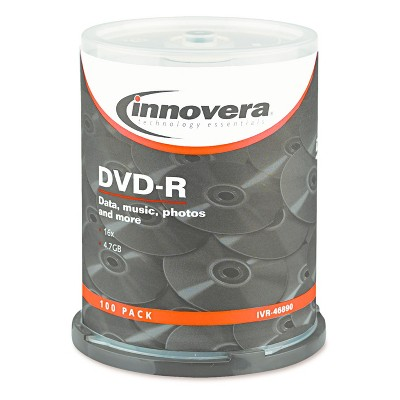 Innovera DVD-R Discs 4.7GB 16x Spindle 100pk - Silver (IVR46890)