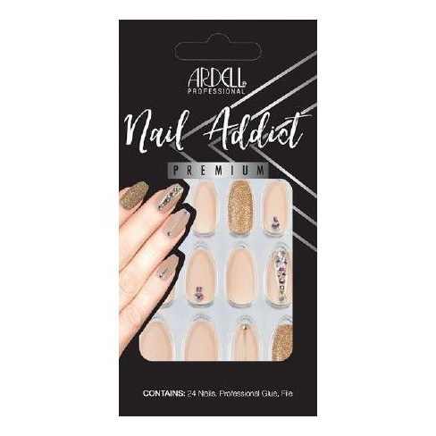 Ardell Nail Addict Nails Nude Jeweled - 24ct - image 1 of 4