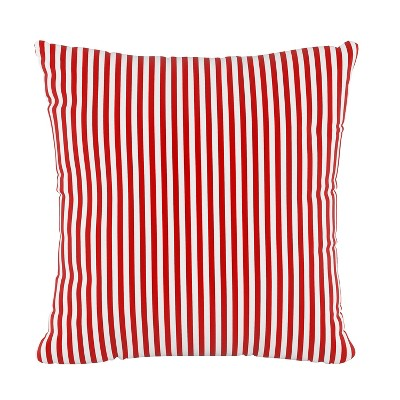 Stripe Square Throw Pillow Red - Skyline Furniture