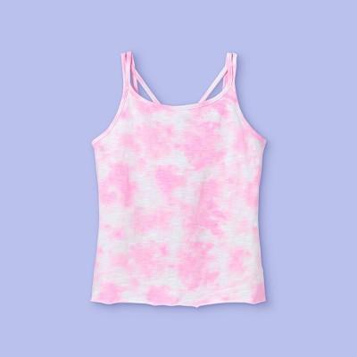 Girls' Tie-Dye Tank Top - More Than Magic™ Pink