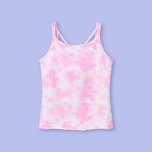 Girls' Tie-Dye Tank Top - More Than Magic™ Pink - image 1 of 2