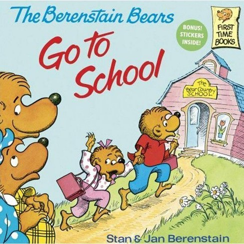 The Berenstain Bears Go to School - (Berenstain Bears (8x8)) by  Stan Berenstain & Jan Berenstain - image 1 of 1