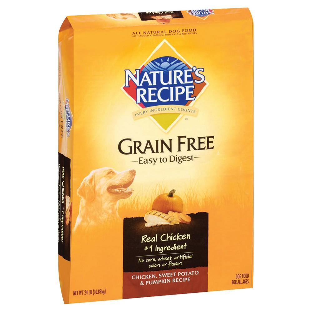 Nature's Recipe Grain Free Easy to Digest (Chicken Sweet Potato & Pumpkin) - Dry Dog Food - 24lbs