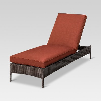 belvedere wicker patio chaise lounge threshold target - Chaise Orange