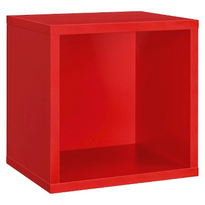 "14.7"" x 12.7"" Wall Cube Shelf Red - Dolle Shelving"