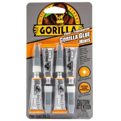 4pk Clear Gorilla Glue Mini Tubes - 0.42oz