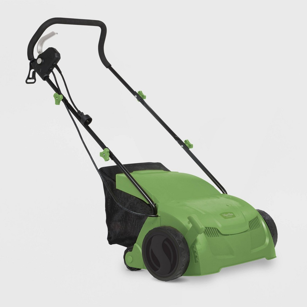 Image of 120V 12Amp 13 Electric 5-Position Scarifier And Lawn Dethatcher Green - Martha Stewart