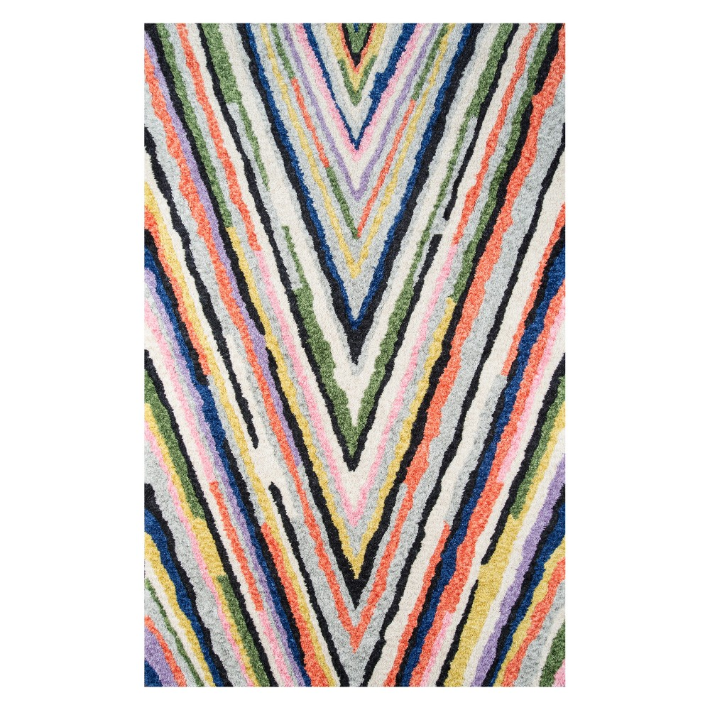 5'X7'6 Stripe Tufted Area Rug - Novogratz By Momeni, Multi-Colored