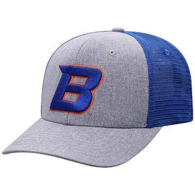 NCAA Boise State Broncos Men's Gray Chambray with Hard Mesh Snapback Hat