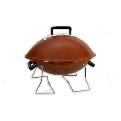 Keg-a-Que Football Charcoal Grill 10005 Brown