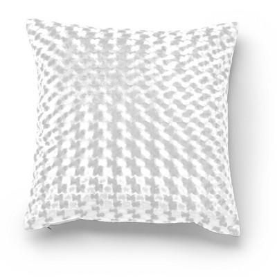 "20""x20"" Carmen Velvet Decorative Throw Pillow White - SureFit"