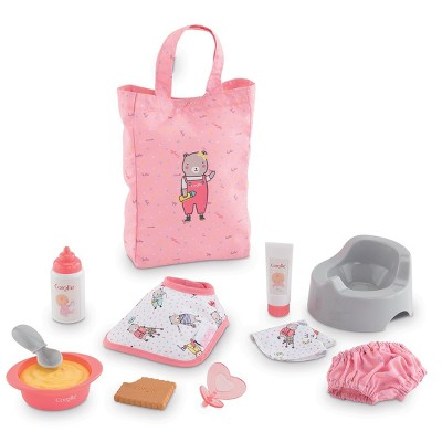 """Corolle Large Accessories 12"""" Baby Doll Set - 11 Accessories"""