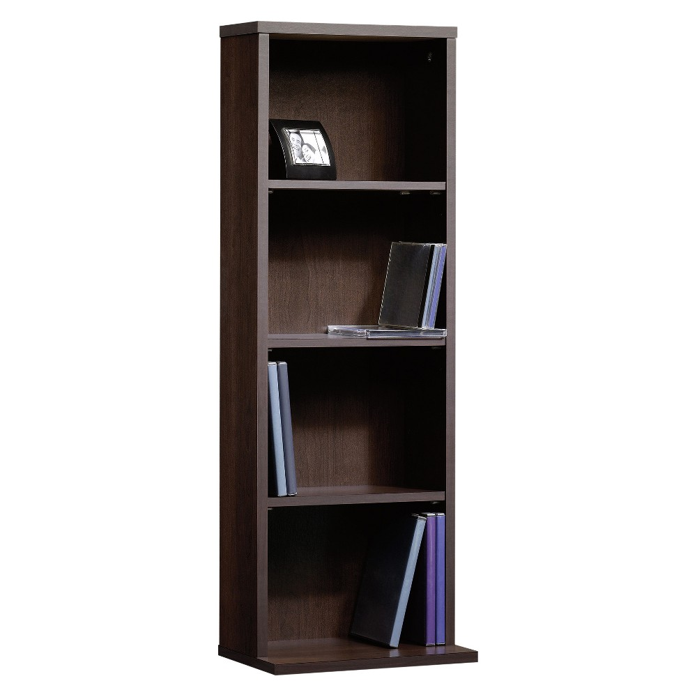 Beginnings Multimedia 4 Shelf Storage Tower Cinnamon Cherry - Sauder, Brown