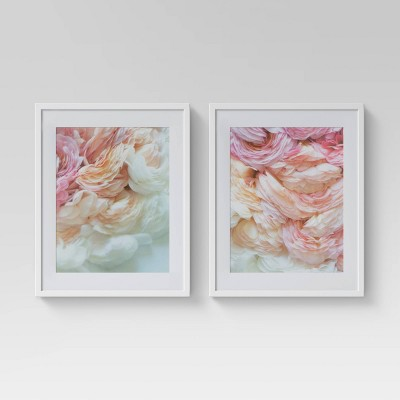 "(Set of 2)16"" x 20"" Floral Photography Framed Print - Opalhouse™"