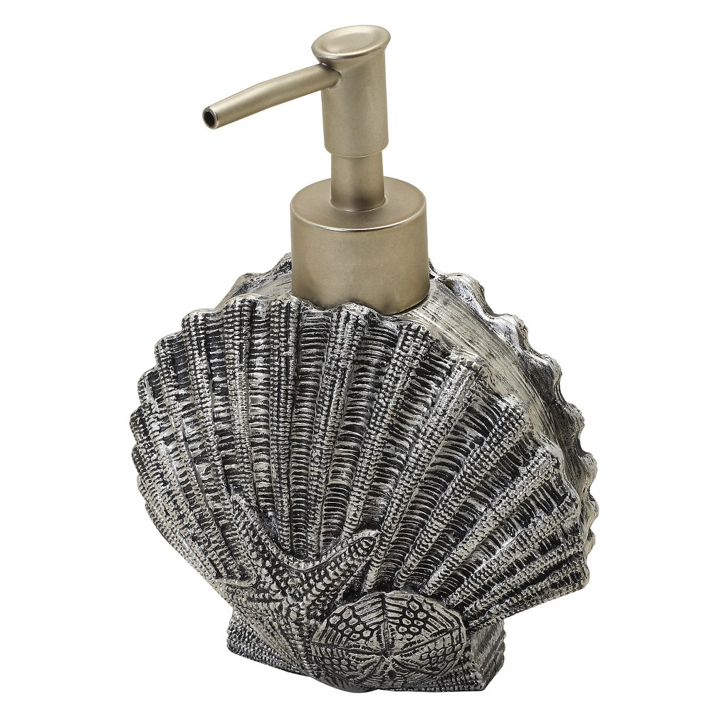 Image of Beach Cottage Resin Slate Novelty Lotion Dispenser Natural/Slate - India Ink
