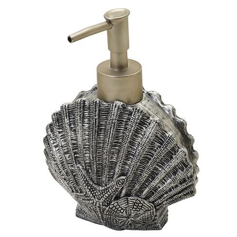 Beach Cottage Resin Slate Novelty Lotion Dispenser Natural/Slate - India Ink - image 1 of 4
