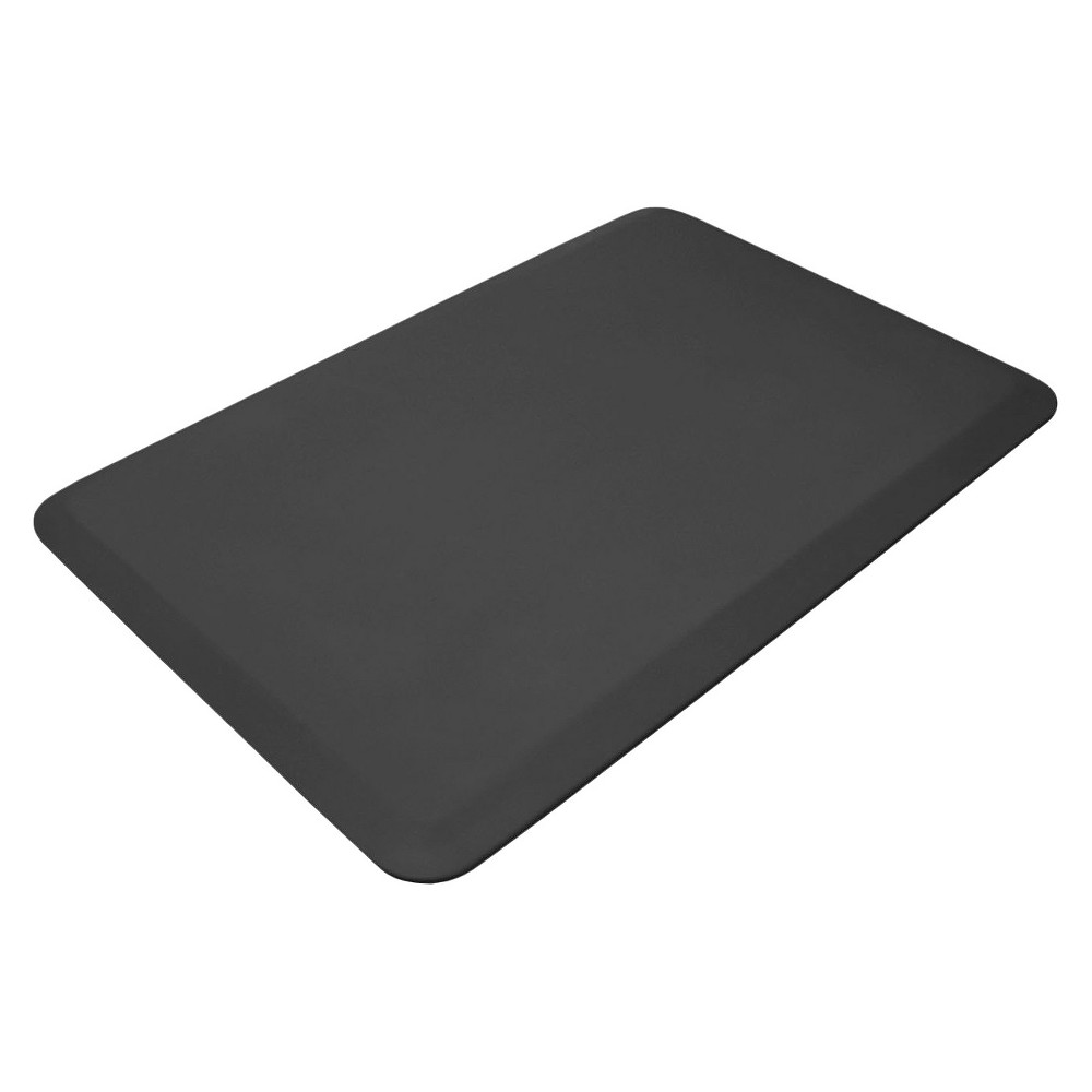 "Image of ""Charcoal Professional Grade Anti-Fatigue Comfort Kitchen Mat 20""""x32"""" - Newlife By Gelpro, Black"""