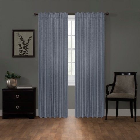 "Ainsley Platinum Blackout Smart Curtain Panel Blue 50""x84"" - Maytex - image 1 of 8"