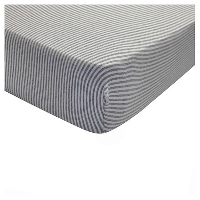 Burt's Bees Baby® Organic Fitted Crib Sheet - Bee Essentials - Heather Gray