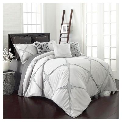 Cream & Gray Cersei Comforter Set (Queen)3pc - Vue®