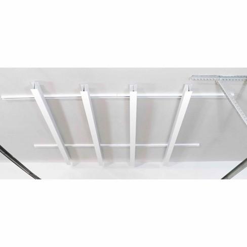 SAM 84 x 78-Inch Multi-Channel Adjustable Tote Slide Overhead Garage Storage Rack with Hardware, Powder-Coated White - image 1 of 4