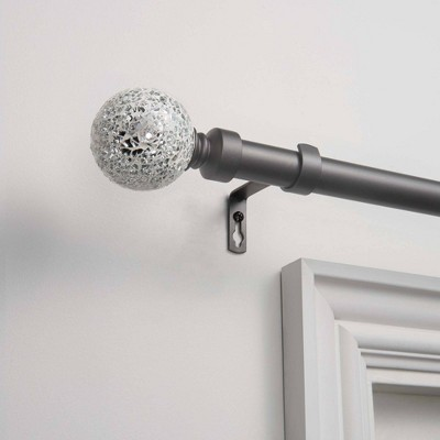 Adjustable Curtain Rod and Coordinating Finial Set - Exclusive Home