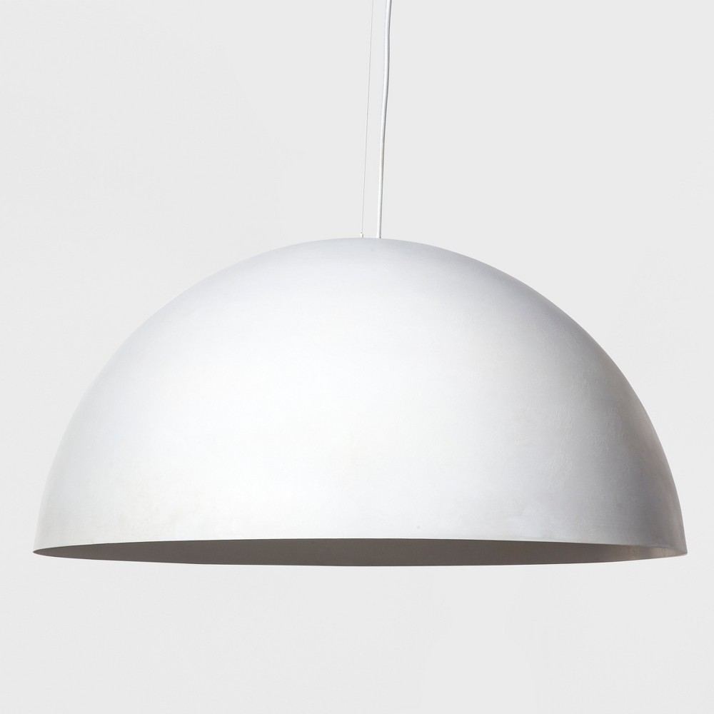Metal Dome Extra Large Pendant Lamp White (Includes Energy Efficient Light Bulb) - Project 62 + Leanne Ford