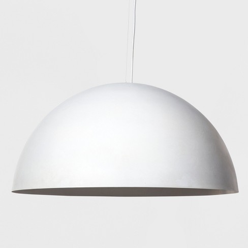 Metal Dome Extra Large Pendant Lamp White Includes Energy Efficient Light Bulb Project 62 Leanne Ford