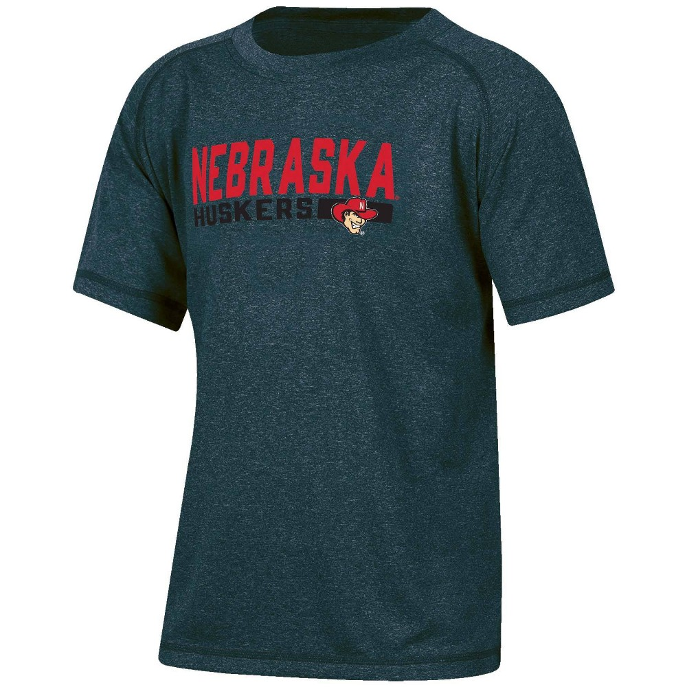 Ncaa Nebraska Cornhuskers Boys 39 Short Sleeve Gray T Shirt S
