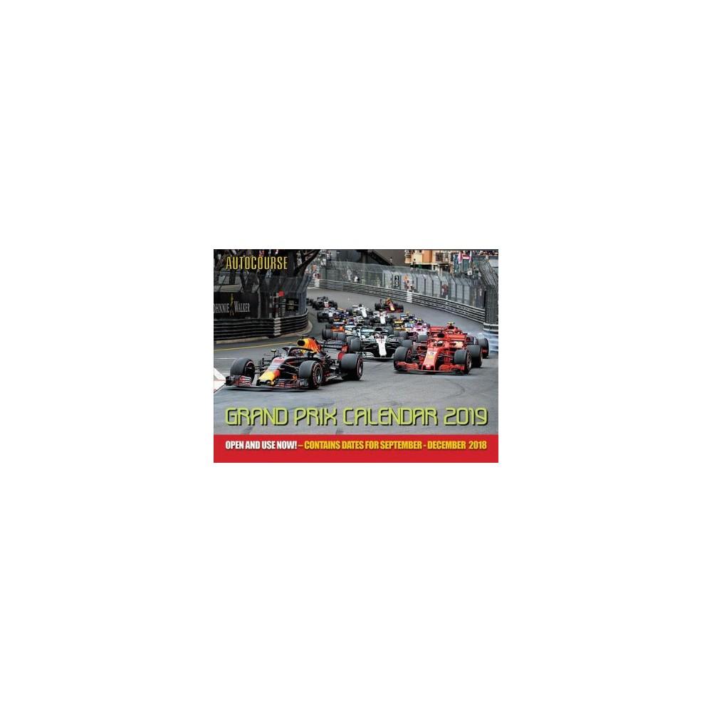 Autocourse Grand Prix 2019 Calendar - by Peter J. Fox (Paperback)