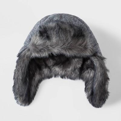 Boys' Faux Fur Hat - Cat & Jack™ Gray